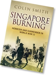 Hardback cover of Singapore Burning